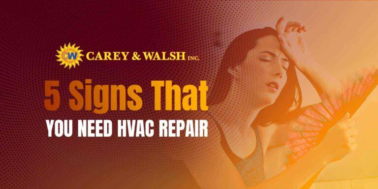 5 Signs That You Need HVAC Repair